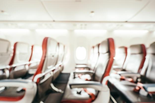 Streszczenie rozmycie i niewyraźne siedzenia pasażera