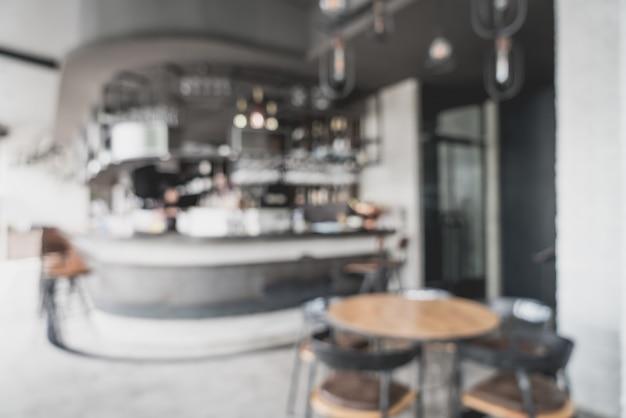 Streszczenie rozmycie i niewyraźne w restauracji i kawiarni