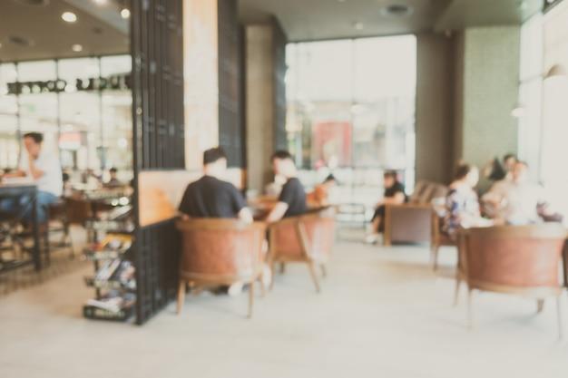 Streszczenie rozmycie kawiarni