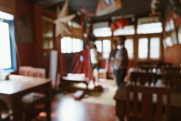Streszczenie rozmycie kawiarnia i restauracja kawiarnia na tle