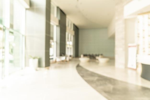 Streszczenie rozmycie lobby hotelu na tle