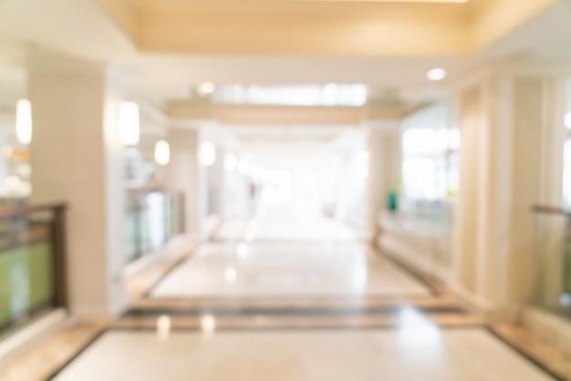 Streszczenie rozmycie lobby i salon luksusowego hotelu