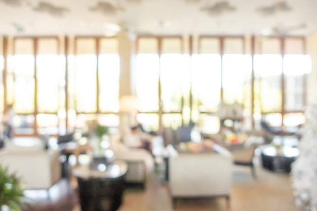 Streszczenie rozmycie lobby luksusowego hotelu na tle