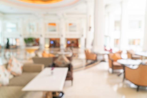 Streszczenie rozmycie lobby luksusowego hotelu