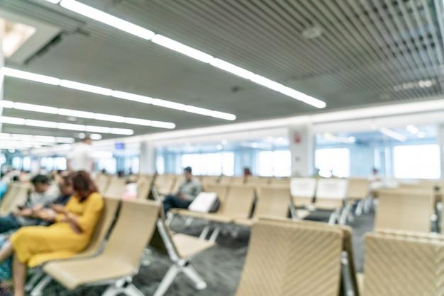 Streszczenie rozmycie lotniska na tle