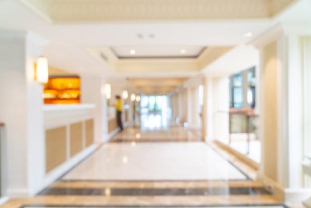 Streszczenie rozmycie luksusowy hotel lobby i salon na tle