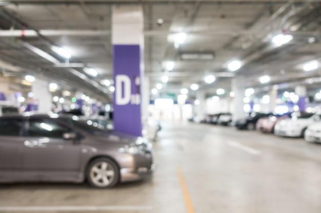 Streszczenie rozmycie parkingu samochodu
