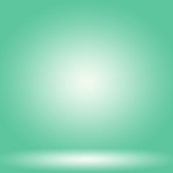 Streszczenie rozmycie pusty zielony gradient studio dobrze wykorzystać jako tło, szablon strony internetowej, ramkę, raport biznesowy