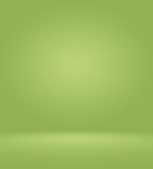 Streszczenie rozmycie pusty zielony gradient studio dobrze