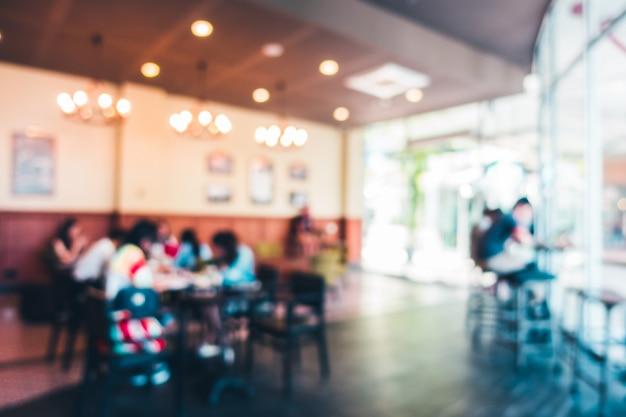 Streszczenie rozmycie restauracja i kawiarnia kawiarni