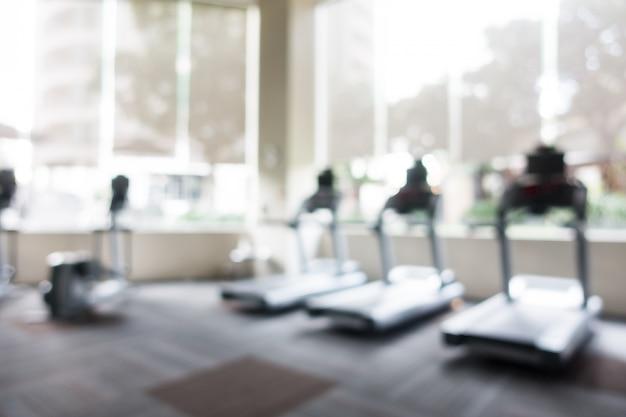 Streszczenie rozmycie siłownia i sala fitness