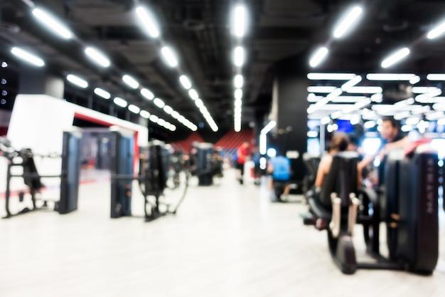 Streszczenie rozmycie siłownia i wnętrze pokoju fitness