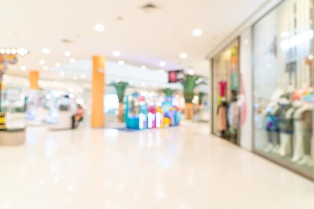 Streszczenie rozmycie sklep i sklep w centrum handlowym dla