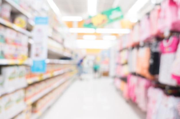 Streszczenie rozmycie supermarketu
