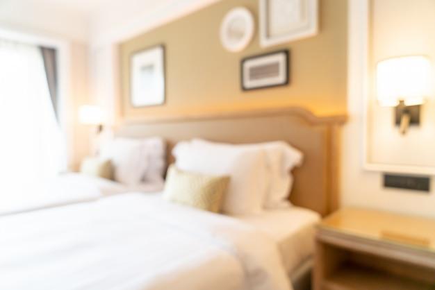 Streszczenie rozmycie sypialni hotelowej na tle