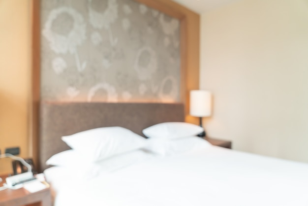 Streszczenie rozmycie sypialni hotelu na tle