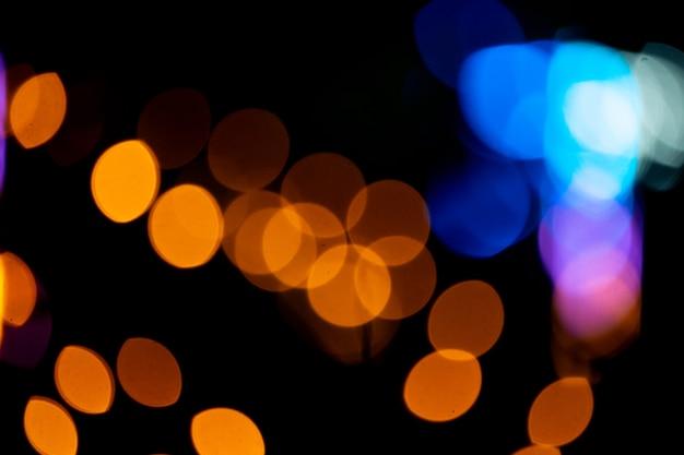 Streszczenie rozmycie tła bokeh, lampki nocne, festiwal szczęścia.
