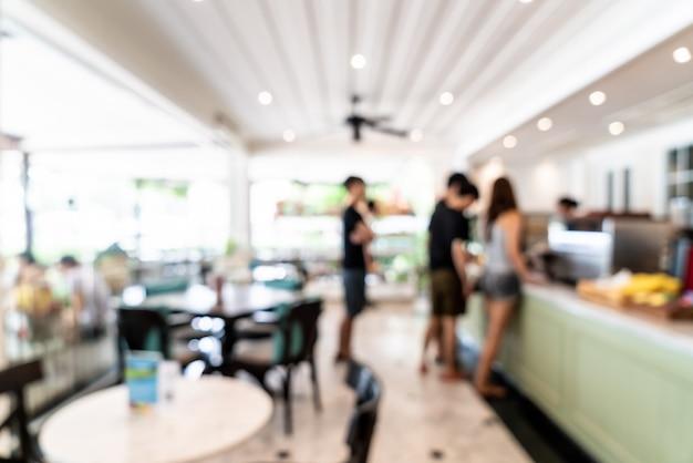 Streszczenie rozmycie w kawiarni i restauracji kawiarni dla