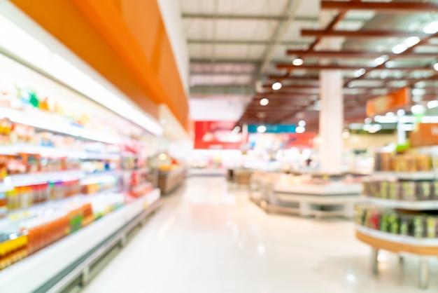 Streszczenie rozmycie w supermarkecie