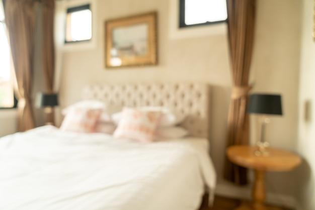 Streszczenie rozmycie wnętrza sypialni na tle