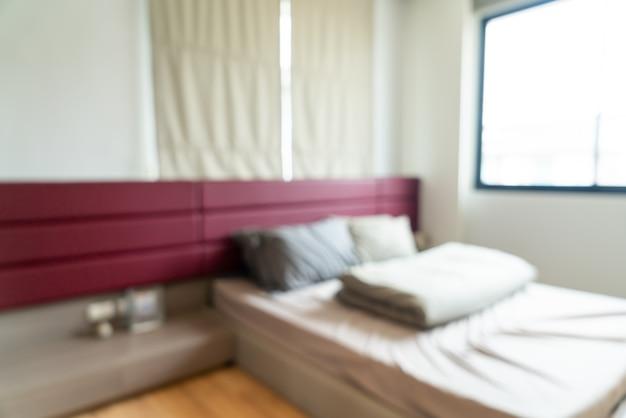 Streszczenie rozmycie wnętrza sypialni