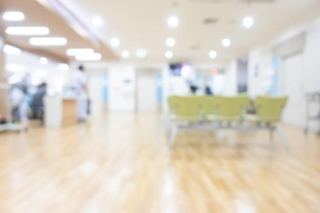 Streszczenie rozmycie wnętrze szpitala na tle