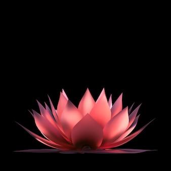 Streszczenie różowy kwiat lotosu