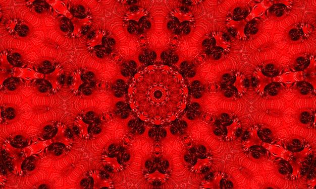 Streszczenie spirograf pentagramu na czarnym tle. spirograf element dekoracyjny do projektowania. czerwony spirograf pentagramowy.