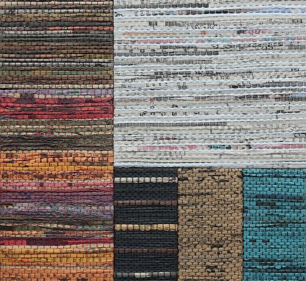 Streszczenie splot tekstury wykonane z przetworzonej gazety tekstury