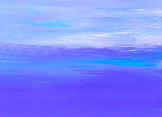 Streszczenie spokojny niebieski i biały obraz tła. sztuka współczesna. miękkie pociągnięcia pędzlem na papierze.