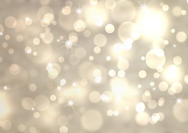Streszczenie srebrny świąteczny tło z efektem bokeh