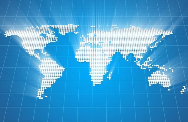 Streszczenie świecące mapy świata