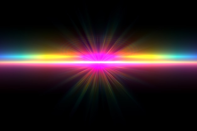 Streszczenie świecące tło pochodni obiektywu cyfrowego