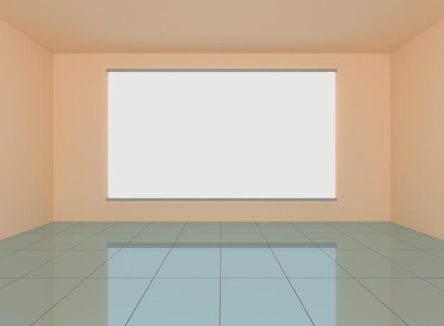 Streszczenie szare wnętrze w pokoju z pustą ścianą