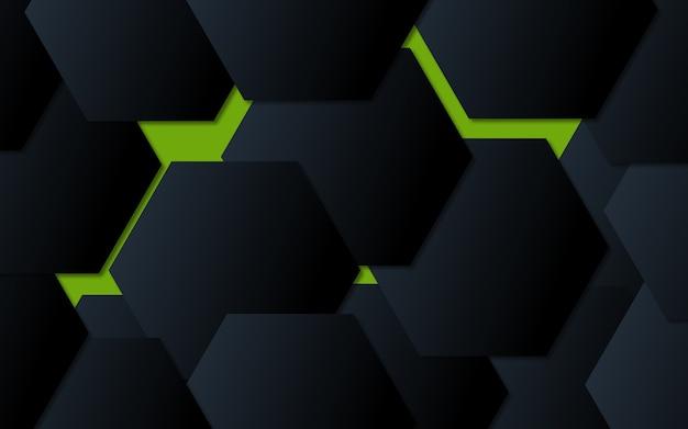 Streszczenie sześciokąt tło technologia tło
