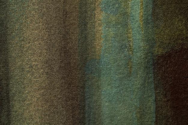 Streszczenie sztuka tło ciemne kolory brązowy i zielony.