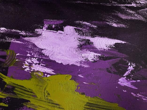 Streszczenie sztuka tło ciemne kolory fioletowy i czarny. akwarela na płótnie z fioletowym gradientem