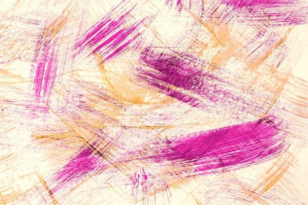 Streszczenie sztuka tło fioletowe i beżowe kolory. akwarela na płótnie z pociągnięciami w kolorze liliowym i pluskiem. grafika akrylowa na papierze z cętkowanym wzorem. tekstura tło.