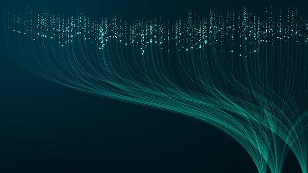 Streszczenie technologia tło big data koncepcja. ruch przepływu danych cyfrowych. t