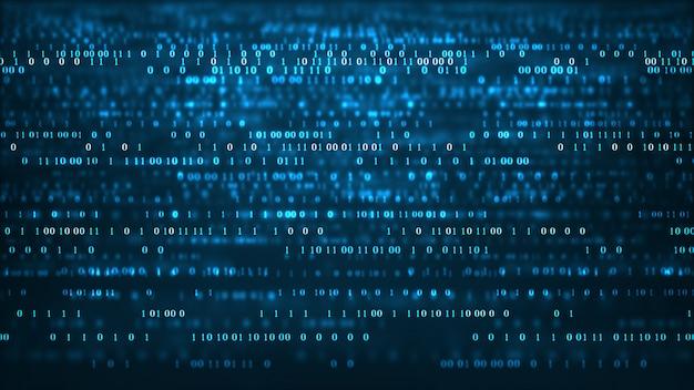 Streszczenie technologii kodu binarnego tła