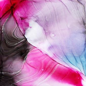 Streszczenie tekstura atramentu alkoholu, zdjęcie makro