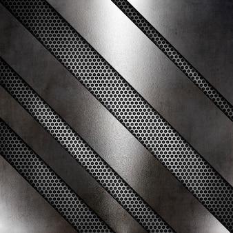Streszczenie tekstura metalicznej