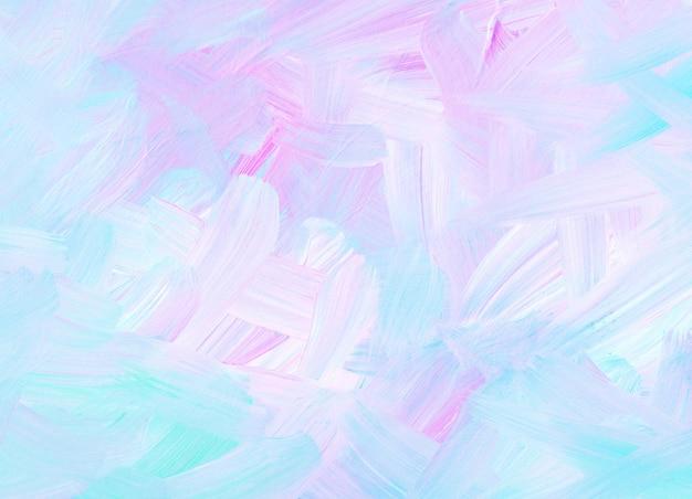 Streszczenie tekstura tło pastelowy niebieski, różowy, biały. miękkie pociągnięcia pędzlem na papierze. kolorowe światło artystyczne.