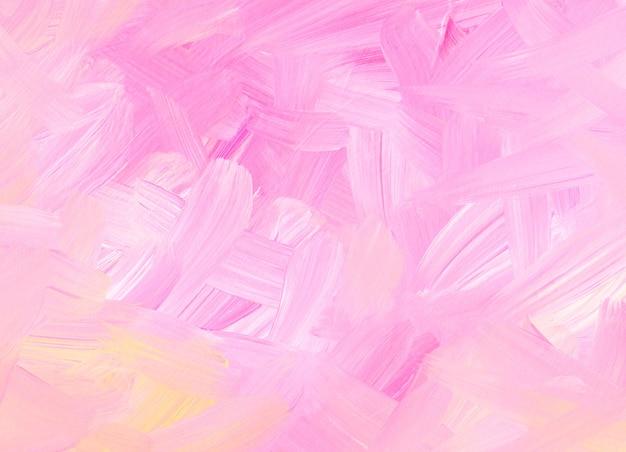Streszczenie tekstura tło pastelowy różowy, żółty, biały. miękkie pociągnięcia pędzlem na papierze. kolorowe światło artystyczne.