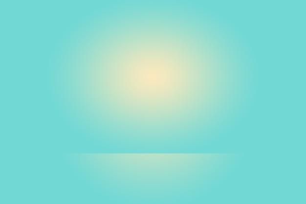 Streszczenie tekstura tło studio jasnoniebieskie i szare ściany gradientowe płaskiej podłogi dla produktu