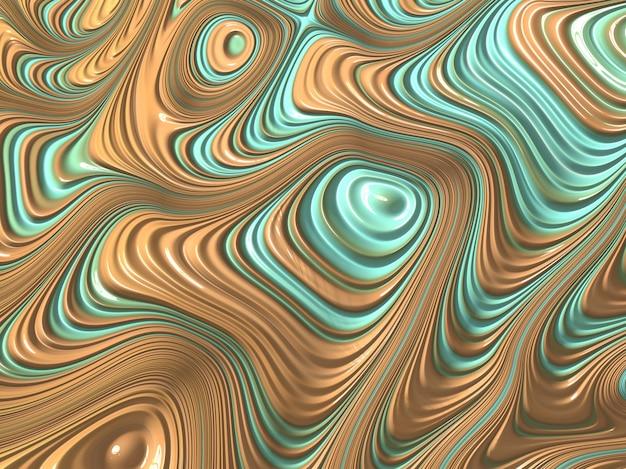 Streszczenie teksturowane fraktalna linie w kolorach turkusu i piasku