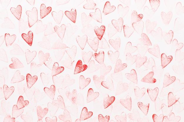 Streszczenie tło akwarela czerwone, różowe serce
