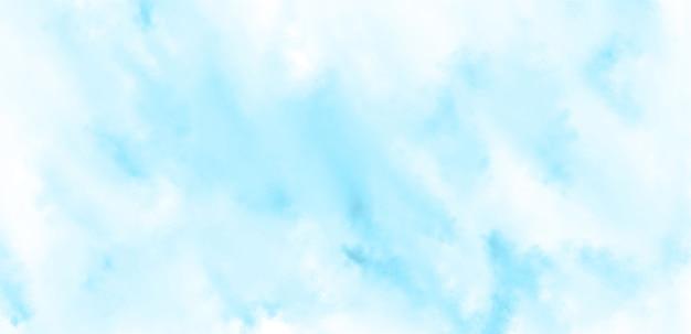 Streszczenie tło akwarela w kolorach niebieskim i białym.