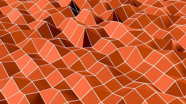 Streszczenie tło białe trójkątne linie na czerwono