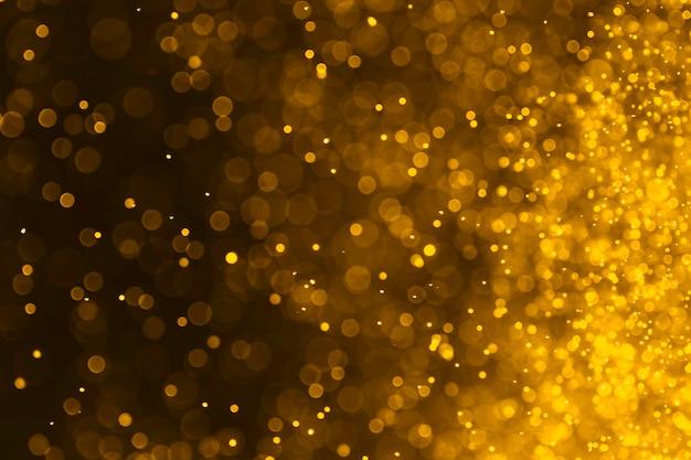 Streszczenie tło bokeh złoty kolor
